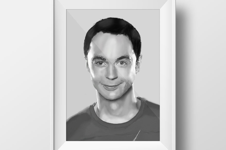 Photograph Recreation Drawing - Sheldon Cooper
